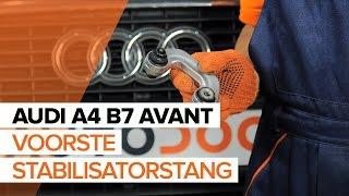 Montage Stabilisatorstang achter rechts AUDI A4 Avant (8ED, B7): gratis video