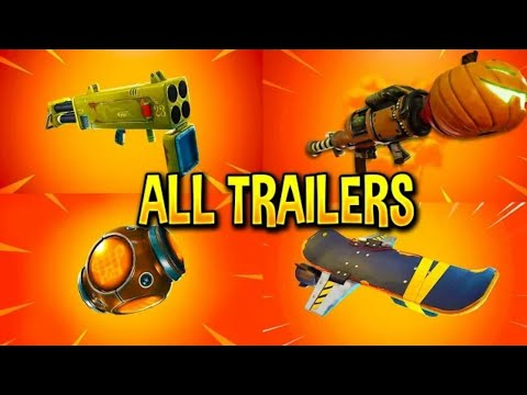 Fortnite All All *NEW ITEM* Trailers( Quad Launcher, Pumpkin Launcher And More)