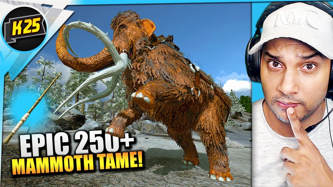 EPIC 250+ MAMMOTH Taming! + ASCENDANT Fishing Rod! | Let's Play Ark Mobile [Surviving Redwood Ep13]