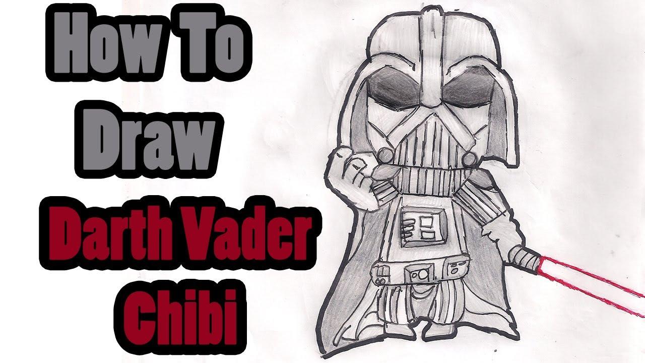 como desenhar darth vader chibi youtube
