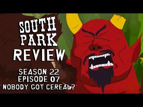 South Park Nobody Got Cereal? REVIEW  Satan FIGHTS ManBearPig