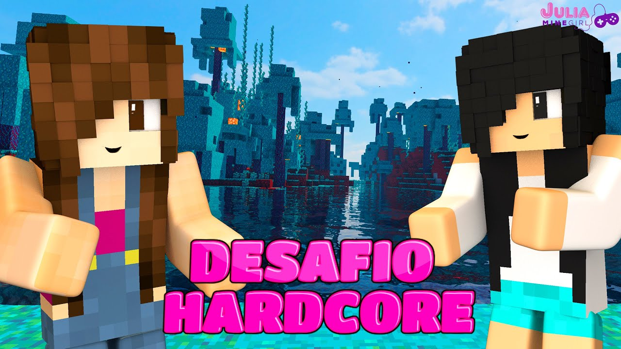DESAFIO NA FLORESTA AZUL DO MINECRAFT!