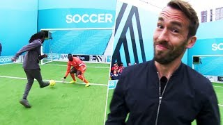 Fuchs winds up the goalkeeper! | Christian Fuchs vs Wretch 32 & DJ Spoony | Soccer AM Pro AM