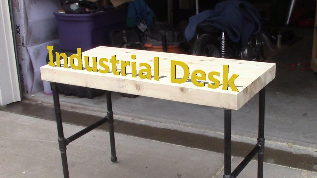 Industrial 2x4 Desk Youtube