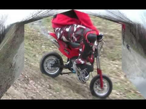 pocket dirt bike first test crash youtube. Black Bedroom Furniture Sets. Home Design Ideas
