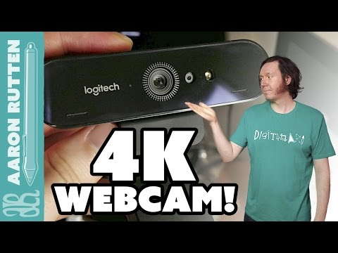 4K WEBCAM! - Logitech Brio Review For Art Videos & Live Streaming With OBS