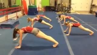 Эффективная тренировка пресса от юных гимнасток! эффективная тренировка пресса ДОМА