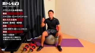 バランスボール・キャッチング : 【 レベル2】バランス力&体幹強化