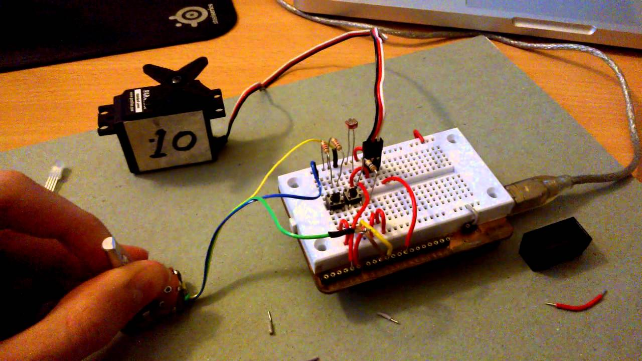 Using a potentiometer to control servo motor youtube for Industrial servo motor tutorial