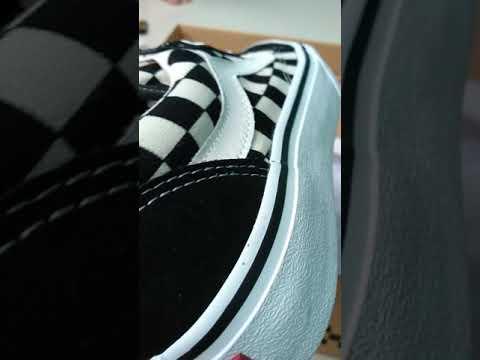 Review vans old skool checkerboard original bnib japan market - YouTube 03d3532ec