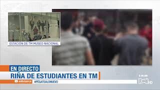 Menores protagonizan riña dentro de la estación Museo Nacional de Transmilenio