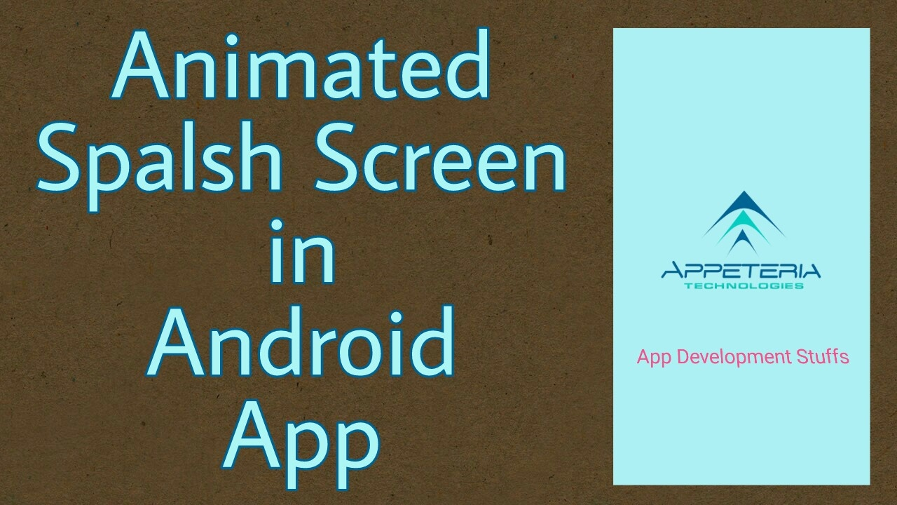 Animated Splash Screen in Android Studio - YouTube