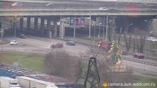 Авария около развязки на пересечении Дзержинского и Новорязанского шоссе 18.11.2017