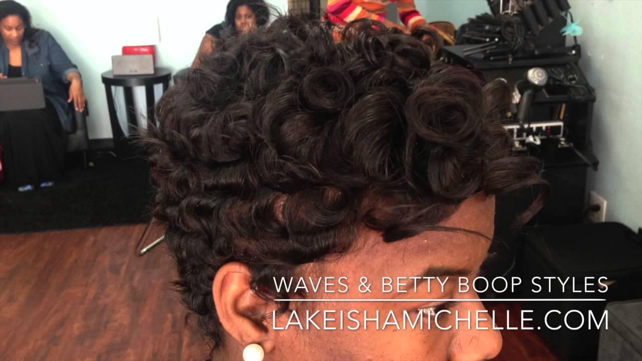 short hair cuts waves texture betty boop los angeles & dallas