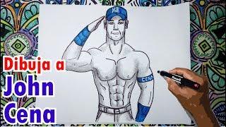 Aprende a dibujar a John Cena - Luchador de la WWE