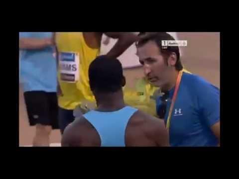2013 Meeting de Atletismo Madrid men 100m dash - Nesta Carter sets new meet record (9.87) !
