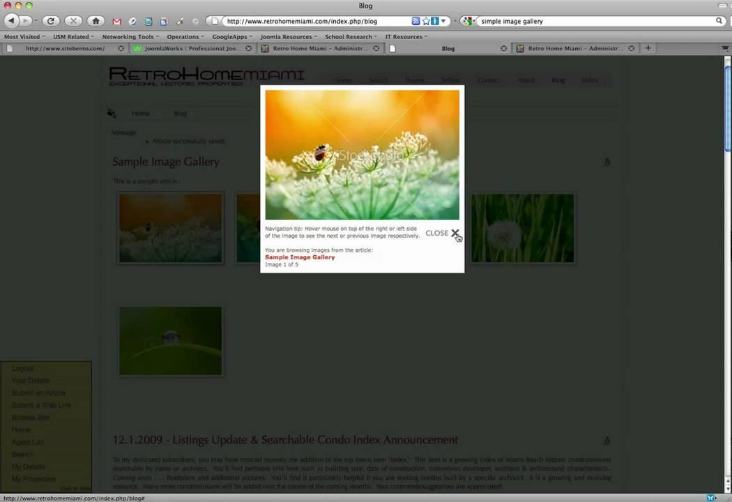 Simple Image Gallery - JoomlaWorks