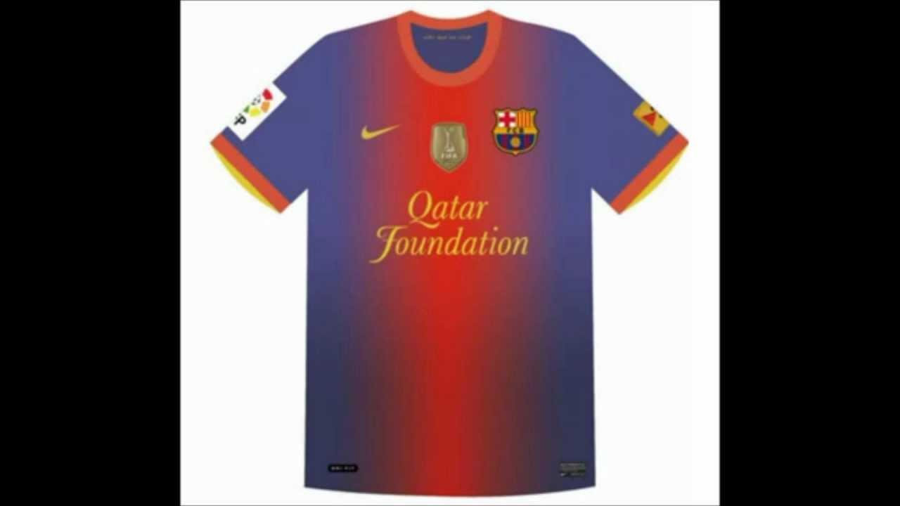 cb6abadb4f6 FC Barcelona kit 2012-2013... ٢٠١٢-٢٠١٣ زي برشلونة الرسمي لموسم ...