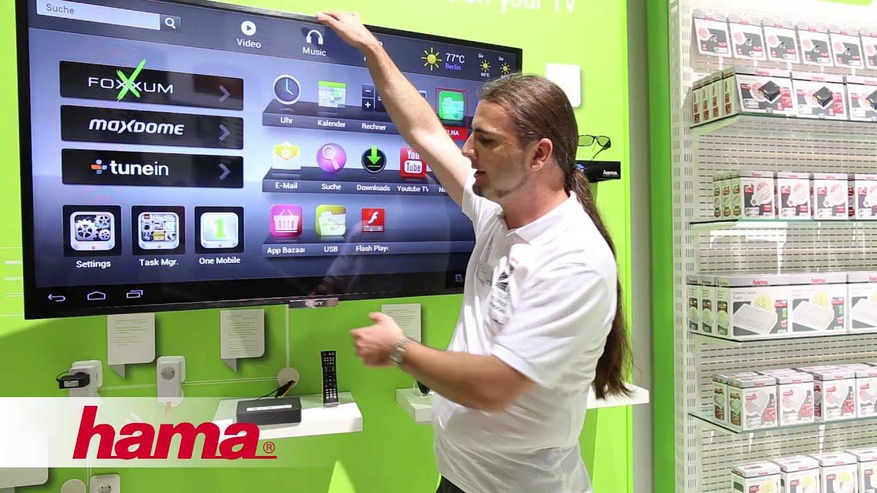 neuheiten ifa 2013 hama tv wandhalterung fullmotion youtube. Black Bedroom Furniture Sets. Home Design Ideas