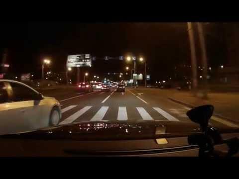 Светодиодные лампы H7 ближний свет с ПТФ HB4 тест на дороге