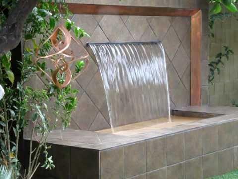 Custom Metal Frame Amp Sheer Descent Water Wall Youtube
