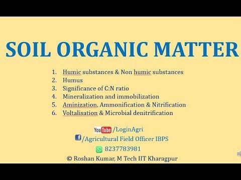 SOIL ORGANIC MATTER For AFO, NABARD Etc By ROSHAN KUMAR SIR
