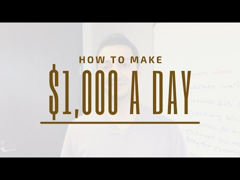 How To Make $1,000 A Day Online Using High Paying Affiliate Programs