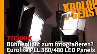 Bühnenlicht zum fotografieren? Eurolite PLL 360/480 LED Panels Krolop&Gerst