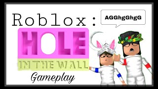 Roblox- Hole in the Wall- (Fail Compilation)- ft. BlossomUni (MUST WATCHHH!)