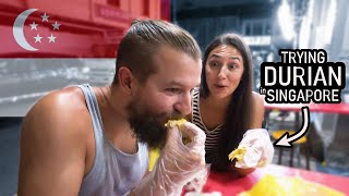 Americans Try DURIAN in Singapore - World