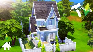 The Sims 4 Speed Build || SMALL TINY CUTE HOUSE || NO CC