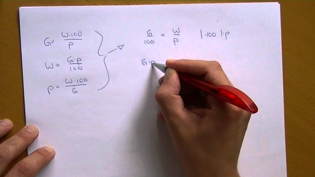 Die Drei Gleichungen Der Prozentrechnung Youtube