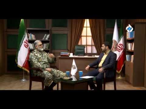 """Iran IRIB5 """"handwriting"""" program: Gen Purdastan  Deputy-Chief of Army دست خط, امیر پوردستان"""