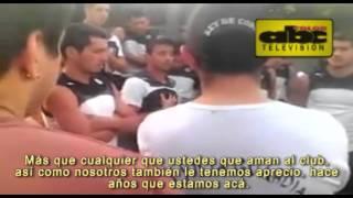 La contestación de Juan Manuel Salgueiro a jefes de la barra de Olimpia
