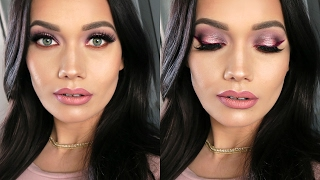 Vampy Halo Eyes + Berry Liner & Glowing Skin | Colour Pop Makeup Tutorial
