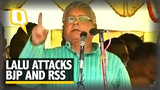 Lalu Attacks BJP and RSS in Raghopur Rally