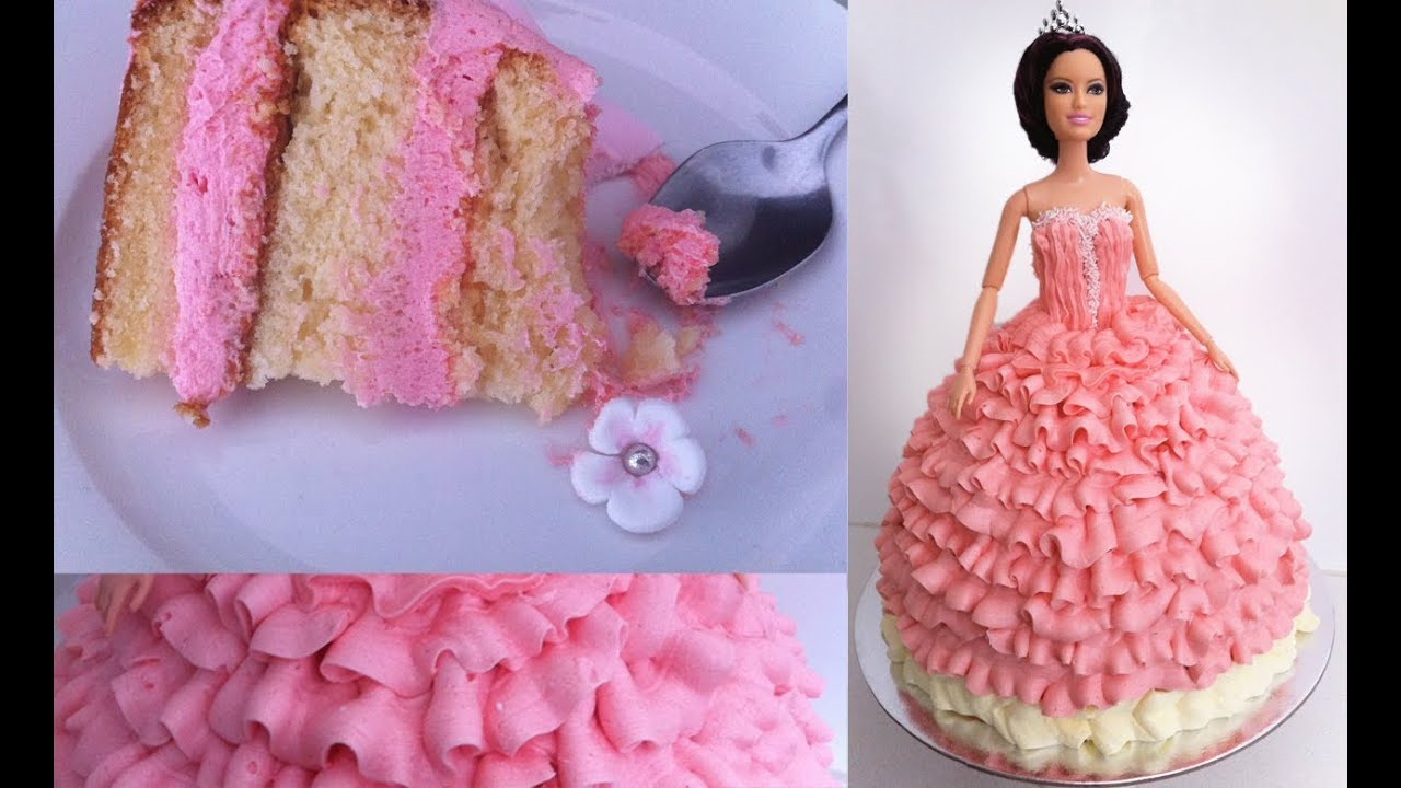 Birthday Cake Princess Doll Tutorial How To Cook That Ann Reardon