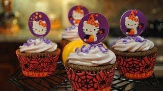 Hello Kitty with Chocolate Raspberries and Merlot / Cool Halloween Cupcake Decorating Ideas Thumbnail