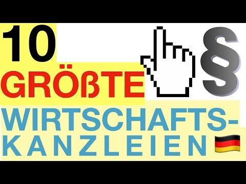 10 GRÖßTE Wirtschaftskanzleien In Deutschland ⚖ | #BesserWissen