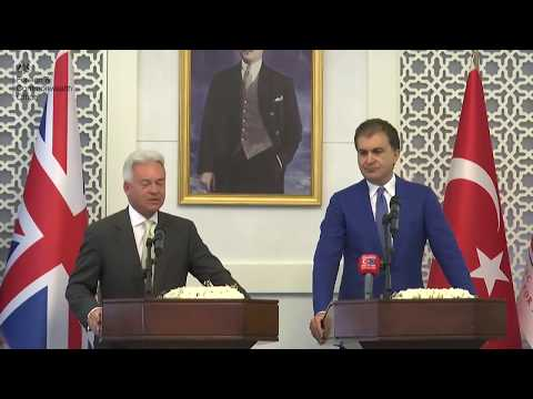 Minister for Europe press conference Turkey