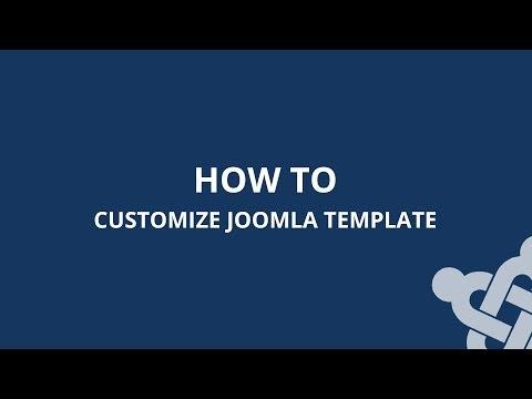 How To Customize Joomla Template