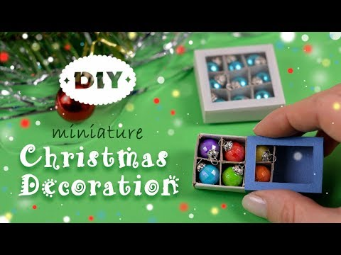 Miniature Christmas Decorations With Matchbox