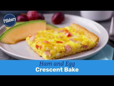 Ham And Egg Crescent Bake   Pillsbury Recipe