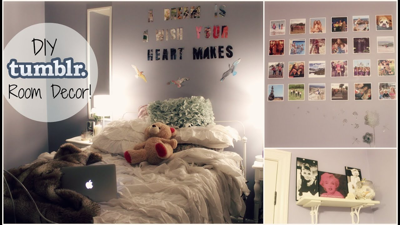 diy cheap & easy tumblr inspired room decor! | xoxosolie - youtube