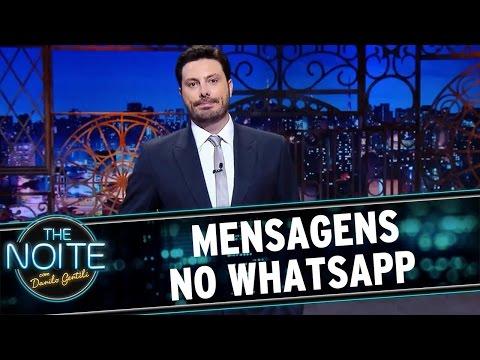 The Noite (08/04/16) - Monólogo: Mensagens No WhatsApp