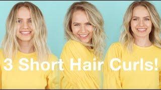 3 Ways to Curl Short & Lob Hair! - KayleyMelissa