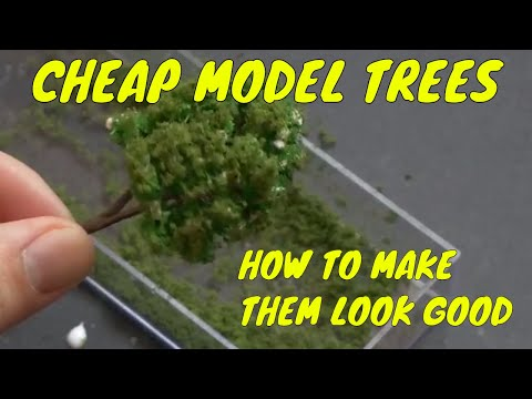 Budget Scenery:  Using Cheap Trees on Your Model Railroad