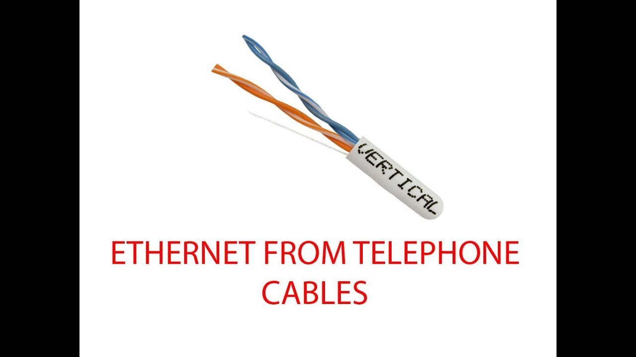 CONVERTING HOME TELEPHONE WIRING TO ETHERNET on