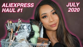 ALIEXPRESS HAUL JULY 2020 | Lashes, Jewellery, Makeup Dupes, Tools & More!