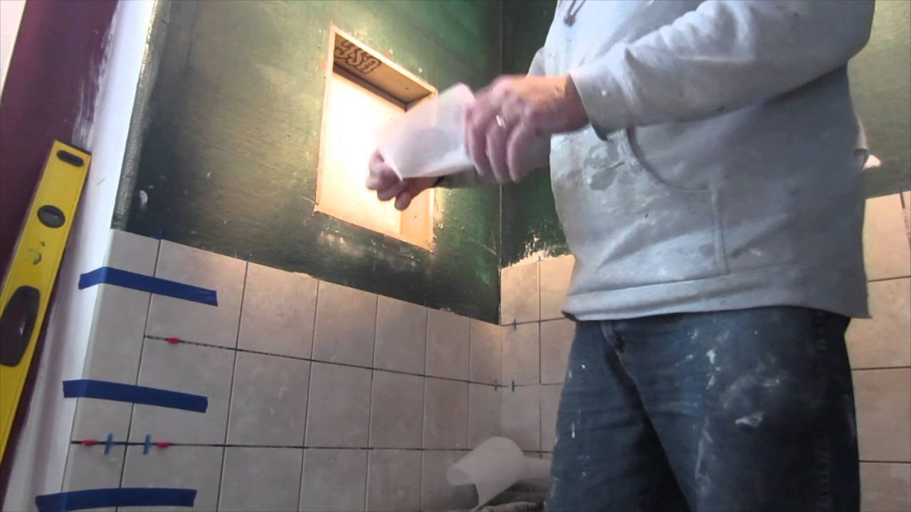How to build a tiled shower tub - How To Build A Recessed Niche In A Tile Shower Start To Finish Youtube